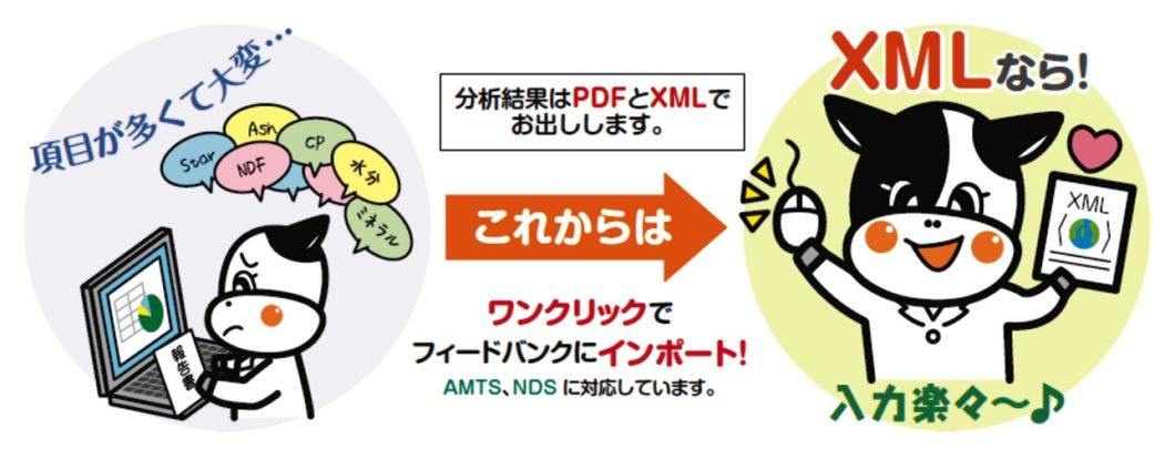 分析結果はPDF と XMLファイル形式